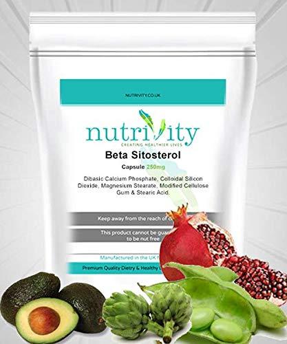 Beta-sitosterol (esterol vegetal) 250 mg Cápsulas Nutrivity