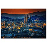 Spain Basílica de la Sagrada Familia Barcelona Jigsaw Puzzle 1000 piezas juego ilustraciones viaje recuerdo madera