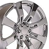 OE Wheels LLC 22 inch Rim Fits Cadillac Escalade Wheel CA82 22x9 Chrome Wheel Hollander 5409