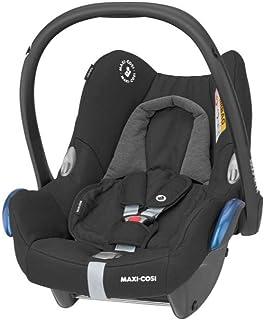 Maxi-Cosi CabrioFix Babyschale, Baby-Autositze Gruppe 0 0-13 kg, nutzbar bis ca. 12 Monate, passend für FamilyFix-Isofix Basisstation, Essential Black schwarz