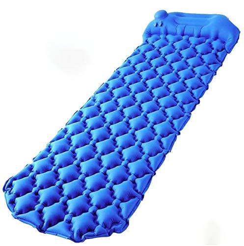 MINPE Isomatte Camping, Ultraleichte Aufblasbare Luftmatratze, Selbstaufblasbare Luftmatratze Schlafmatte für Outdoor Camping, Reise,Trekking und Backpacking