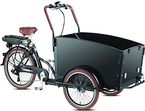 Elektro - Transportrad Voozer schwarz + gratis Winterset, fertig montiert