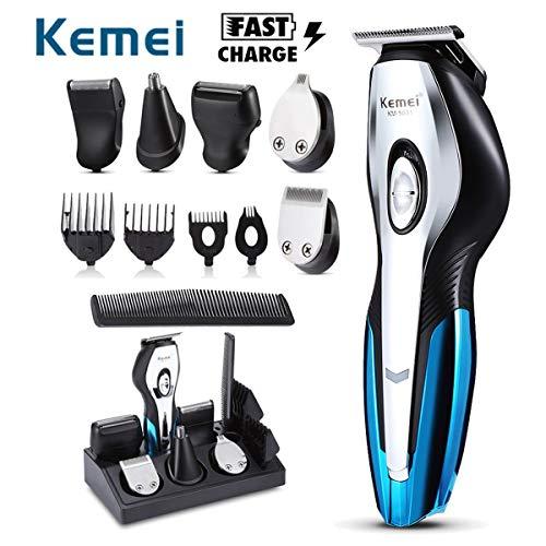Handig voor thuis Kemei oplaadbare elektrische tondeuses 11 in 1 Hair Clipper elektrisch scheerapparaat Baardtrimmer Scheren Machine Nose Trimmer hjm jiadianshuma