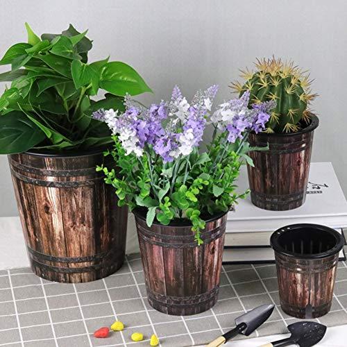 MINGMIN-DZ Dauerhaft Faul Kunststoff Selbstbewässerungsblumentopf Innenblumentopf Desktop-Garten Töpfe Automatische Wasseraufnahme Blumen-Pflanzer (Color : XL)