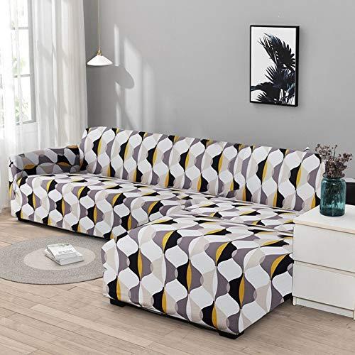 Tobs Ecksofabezug Elastische Sofabezüge für WohnzimmerSesselbezugSofas Con ChaiseNeeds Order 2Pieces Case