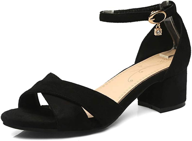 Summer Concise Women shoes Women Black Ankle-Strap Sandals Women Sandal shoes