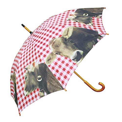 Schirm Regenschirm Alpen Kuh 105 cm Regenschirme mit Motiv die Sie trocken und stilvoll zum Ziel bringen