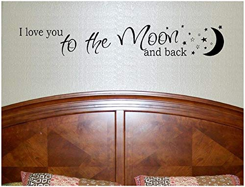 Sticker mural I Love You to The Moon and Back