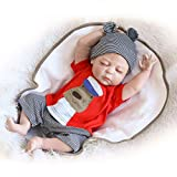 iCradle Muñecas renacidas Silicona Suave Simulación de Vinilo de Silicona Baby Doll Reborn Baby Doll Looks Reallife Newbirth Bebe Doll Mohair 45cm Juguete para niños Regalos de cumpleaños