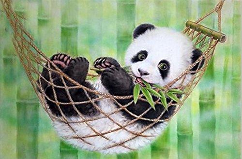 Taloyer DIY 5D Diamond Rhinestone Panda Painting Cross Stitch Kit Mosaic Home Decor Crafts