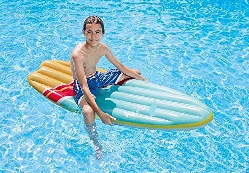 Bavaria Home Style Collection Surfer - Surfbrett - Wellenreiter - Surfboard - Aufblasbar - Luftmatratze - Größe ca 178 x 69 cm (bunt)