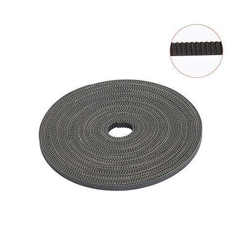 3D Printing Belt, FYSETC 10 Meters (33ft) GT2 Open Timing Belt 2mm Pitch 6mm Width Rubber Fiberglass Fit for RepRap Prusa Mendel Rostock CR-10 Ender 3 3D Printers - Black