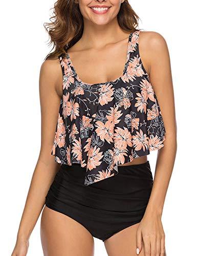 UMIPUBO Traje de Baño Top Flounce Bikini Set Acolchado Bra Bañador Cintura Alta Conjunto De Bikini Dos Piezas Set Swimsuit Bathing Suit