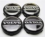 BGTJN 4pcs para Volvo S40 S60 S80L XC60 XC90 64mm Centro Tapacubos, Car Pegatina Centrales Tapones Mediados Tapas De Llantas Cubo De La Rueda AleacióN Logo Insignia Coche Decorativo Accesorios