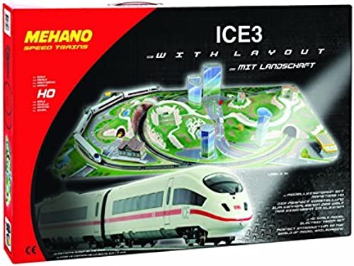 Mehano T737 Ice 3 Zug-Set mit Layout