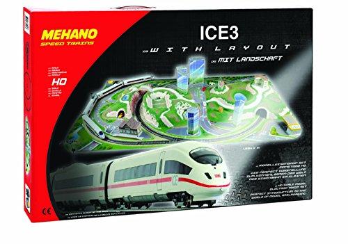 Mehano Ice 3 – Juego de Tren con maqueta, Color Blanco y