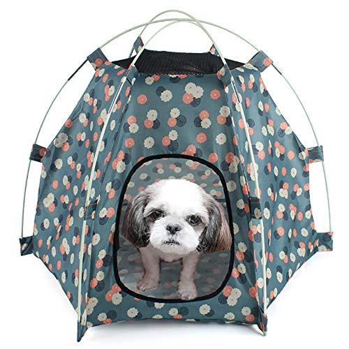 WOOLIY Carpa Plegable portátil para Mascotas, Nido de casa de Perro de Gato UV Impermeable y Transpirable, Perrera de Gatito para Verano Interior al Aire Libre (Azul Marino)