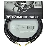 D'Addario ダダリオ シールドケーブル (ギターシールド) American Stage Instrument Cable PW-AMSG-10 (3.0m S-S) 【国内正規品】