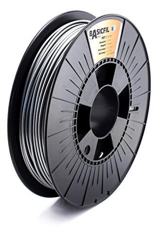 BASICFIL PET- Filamento per stampante 3D, 2.85 mm, 500g, Silver