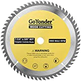 GoYonder 7 1/4 Inch Circular Saw Blade 60 Tooth TCT Carbide 7.25 Inch Saw Blades with 5/8 Inch Arbor for Cutting Wood