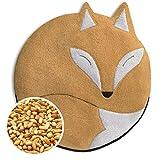 SACO TÉRMICO Leschi de semillas para microondas/para el dolor de estómago/Animal: Zorro Luca, beige