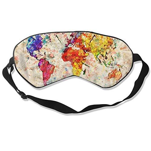 Oogmasker Kaart van de Wereld Schilderij Slapen Masker Verstelbare Ademend Slaap Masker Slapende Slaap Ogen Masker Oogdoek