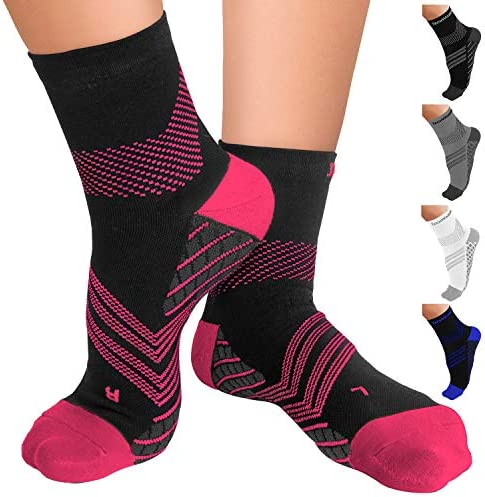 TechWare Pro Plantar Fasciitis Socks Therapy Grade Targeted Cushion Compression Socks for Women product image