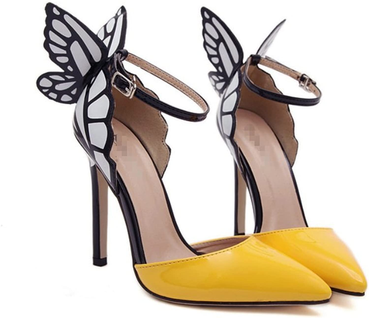 Ladies Fine with Super High Heel-Fashion Sexy Pointy shoes-Pure color Dream Butterfly Wing High Heels-Comfortable Heel shoes Zhhzz