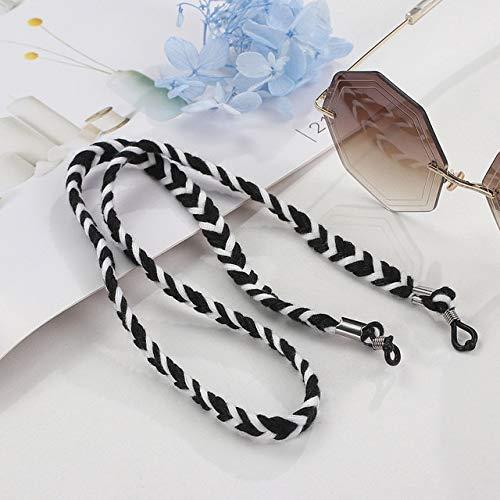 Lolita Twist Cuerda Trenzada Gafas Cadena Cordón Lectura Antideslizante Cadenas De Anteojos Accesorios para Mujer Gafas De Sol Sostener Correas Cordones