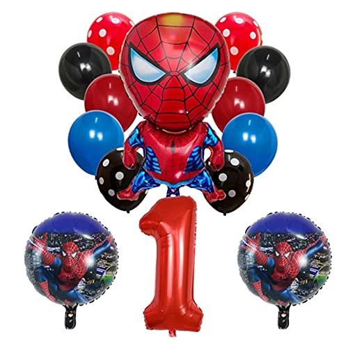 gzynyl Globos 14pcs Globo Redondo Baby Shower número Globo Feliz cumpleaños Fiesta decoración niños Juguete Latex Ball (Color : Style27 58cm)