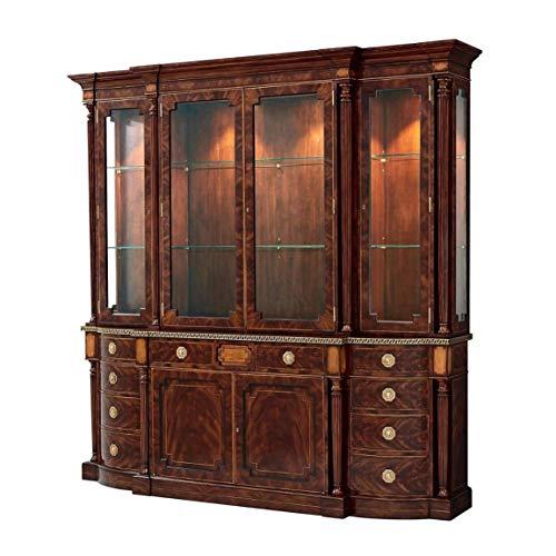 Regency Style Mahogany Breakfront Bookcase