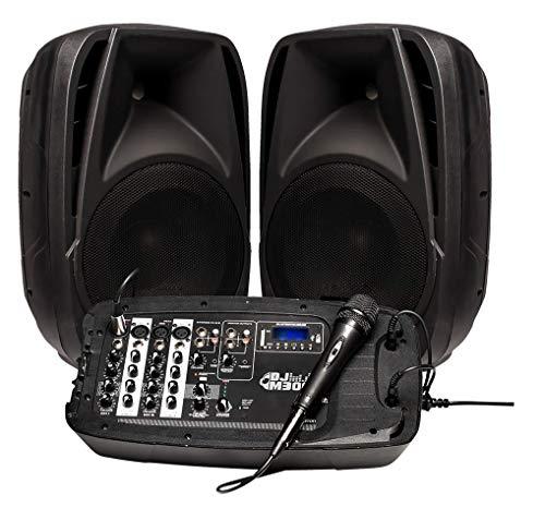 Altavoz PORTATIL INFINITON con Mesa DE Mezclas (Amplificador, Mesa de Mezclas, Microfono)...