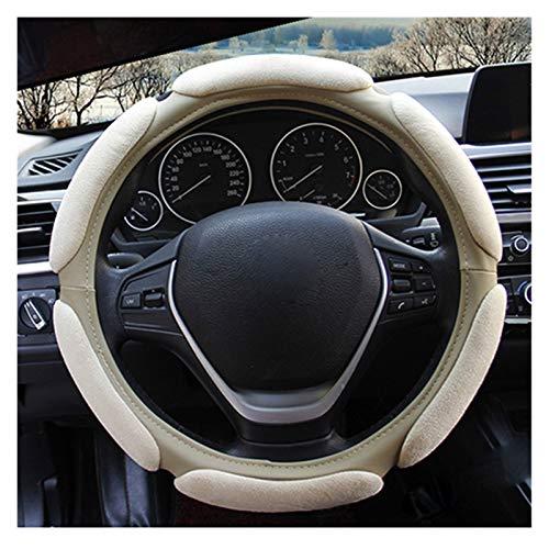 "Zfxbfs Lenkradabzieher 3D Auto Lenkradbezug 10 Art bequemer for 37-38 cm 14.5 ""-15"" M Größe Steuerrad Autozubehör Styling Autolenkradabdeckung (Color Name : Beige)"