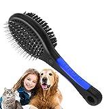 VZATT Cepillo para gatos, perros y gatos, para pelo largo, pelo largo y pelo corto, para el cuidado de perros y gatos, elimina nudos, pelaje inferior y enredos, masaje