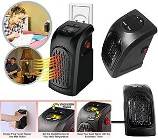 Takestop® - Estufa eléctrica de 350W, portátil, enchufe toma eléctrica regulable de 15° a 32°, bajo consumo, para baño, casa y oficina.