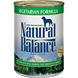 Natural Balance Vegetarian Formula Wet Dog Food, with Brown Rice, Barley, Oat Groats & Carrots, 13 Ounce Can (Pack of 12), Vegan