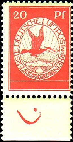 Goldhahn Deutsches Reich Nr. II postfrisch - Randstück mit Farbmarkierung - Briefmarken für Sammler