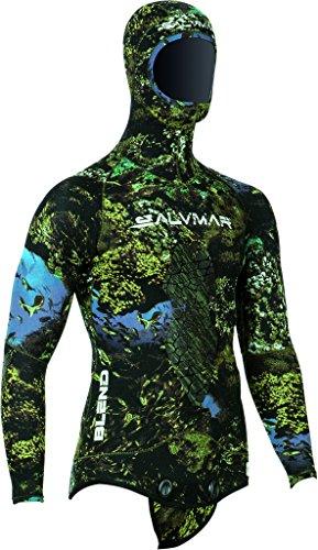SALVIMAR 100330d Giacca di Caccia Sottomarina Unisex Adulto, Verde, Taglia XL
