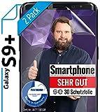 [2 Stück] 3D Schutzfolien kompatibel mit Samsung Galaxy S9 Plus - [Made in Germany - TÜV NORD] – HD Bildschirmschutz-Folie - Hüllenfre&lich – Transparent – kein Schutz-Glas - Panzer-Folie TPU