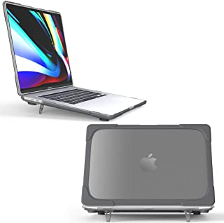 MACACCESSORIES, Compatible for MacBook Pro 16 inch A2141 (2019) PC + TPU Two Colors Laptop Protective Case (Grey) (Color :...