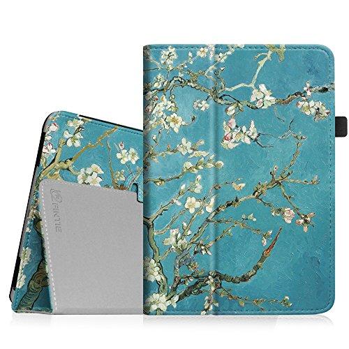 Fintie Hülle kompatibel mit iPad Mini 1/2 / 3 - Slim Fit Foilo Kunstleder Schutzhülle Tasche Etui Case Cover mit Auto Schlaf/Wach Funktion für iPad Mini 3/2 / 1, Mandelblüten