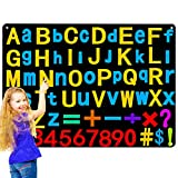 Preschool Alphabets Flannel Felt Letters Numbers Board for Kids, Children Large Wall Storyboard Activity with 107 Pieces ABC Letters, Numbers, Learning Spelling Counting, Montessori Teacher Aide Gifts