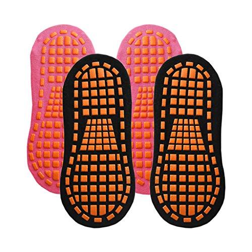 Sharplace 2Pair Rutschfeste Bodensocken, Stoppersocken Damen, Kinder Noppensocken, Abs Noppen Yoga Socken Sport, Größe: 35-43