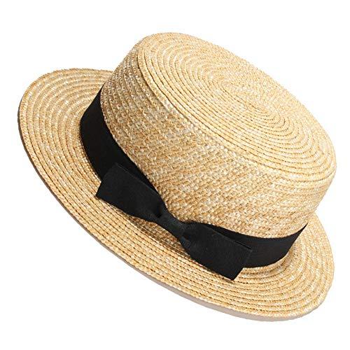 LTSWEET Strohhut Damen Outdoor Sommer Sonnenschutz Kreissäge Strohhut Beach Cap Soft Sonnenschut UV-Schutz Mikroperforiertes Atmungsaktiv Verstellbarer Kordelzug Erwachsene Klassische,A
