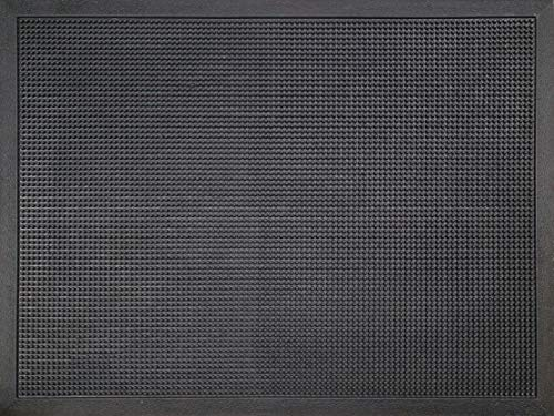 ID Mat M51_L Picots Light Tapis Paillasson Caoutchouc Noir 80 x 60 x 1,6 cm