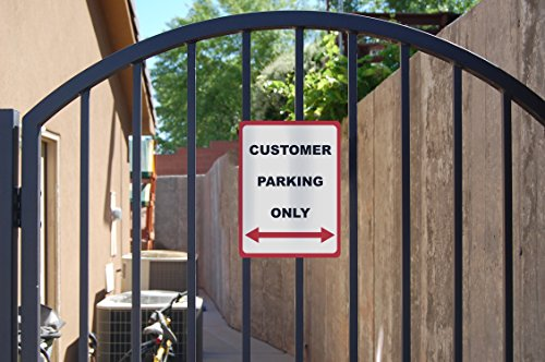 Customer Parking Only - Parking Lot Sign - Business Traffic Directional Signs - Aluminum Metal Photo #2