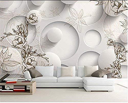 Mssdebz 3D behang eigen foto muurschildering niet-geweven Magnolia esdoorn blad tv achtergrond muurschildering woonkamer behang voor muren 3D 300cmx210cm