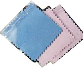 Uteruik Lot de 20 chiffons de nettoyage pour bijoux, 7,6 x 7,6 cm, chiffon de nettoyage pour enlever le ternissement, chif...