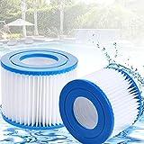 Filtre à Cartouche, VI Cartouche filtrante, Cartouches de Filtration, Filtre pour Jacuzzi pour Le Nettoyage des tuyaux, (2 pièces)