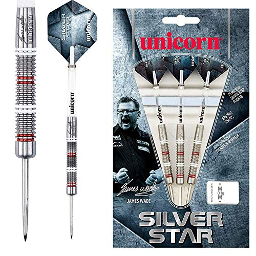 Unicorn Silver Star James Wade Steel Dart, 80% Tungsten, 22g